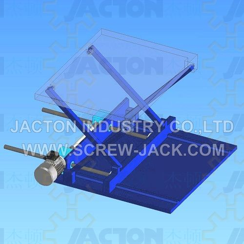 jack screw driven scissor lifting mechanism,four synchronized