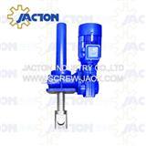 screw hoist raising lowering sluice gate canal