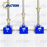 geared motor operated acme screw scissor lift tables