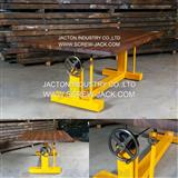Hand crank table base lift mechanism