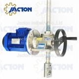 Hand wheel manual and electric motor driven screw jack 5 tons