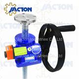 high precision manual screw jack with position indicator
